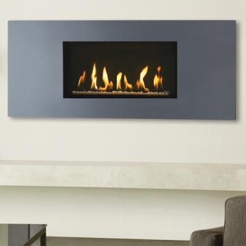 Gazco Studio Slimline Steel 2 Balanced Flue Gas Fire